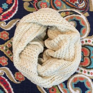Cream/off white colored infinity scarf